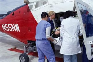 Flight nurses usually have experience working in a trauma unit.