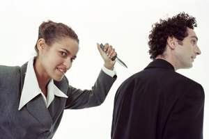 Backstabbing reduces trust among colleagues.