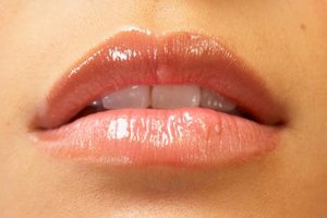 Nude lip gloss made easily with foundation.