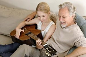 Your child can sing grandfather a song she wrote for him.