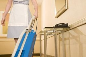 Many housekeepers work in private households and hotels.