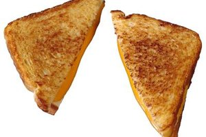 Restaurant grilled cheese has an extra-crispy outer layer.