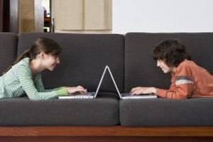 Siblings often use technology to communicate with each other.