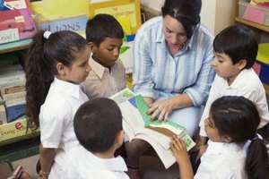 Reading aloud while children read along provides them an opportunity to improve their vocabulary by both sound and sight.