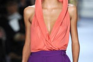 Spring fashions encourage the most vivid hues of the orange and purple color-combo.