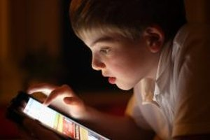 Keep your child protected when using an electronic tablet.