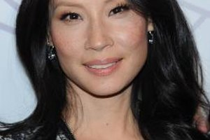 Lucy Liu keeps her makeup light so her freckles aren't covered up.