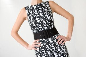 A sheath dress with a belt can help emphasize your hourglass figure's curves.