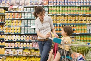 Make food fun by letting your toddler help make healthful choices at the grocery store..