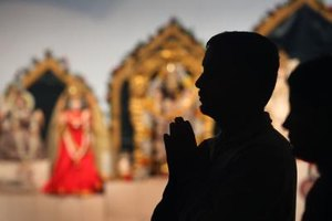 Chanting of prayers is an important part of Hindu worship.