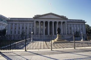U.S. Treasuries are debt securities sold by the Treasury Department.