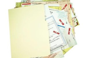 Keeping your bills organized will help you to budget.
