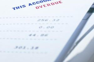 Overdue bills still get counted in the month they were invoiced.