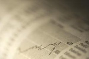 Stock charts can be tables or graphs, in print or online.