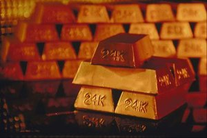 Gold bullions are gold bars and coins.