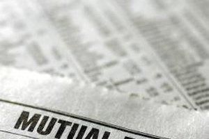 You can check the value of mutual funds in a newspaper's financial pages.