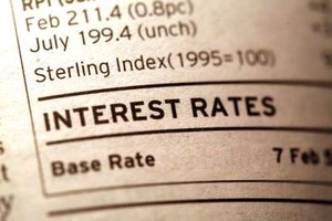 The prevailing interest rate can be used for the estimate if specifics are unknown.