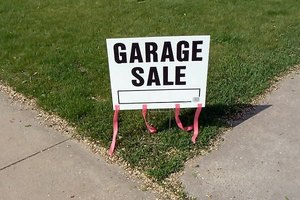 Organize a garage sale in your neighborhood
