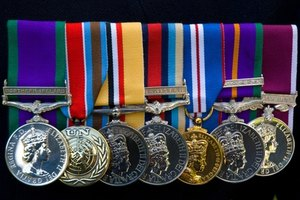Framing war medals requires thought and preparation.