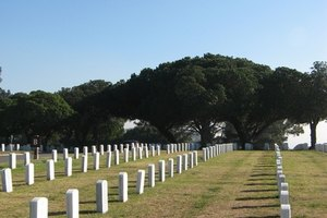 VA funeral benefits may include internment at a national cemetery.