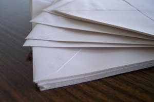 Folding envelopes and letters is a useful skill to master.