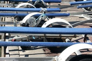 Properly adjusted trailer bunks keep your boat steady during towing.