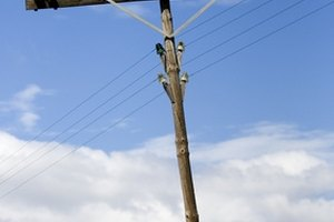 Electric poles must be climbed very carefully.