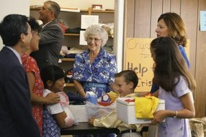 Kids can volunteer at charities and soup kitchens.