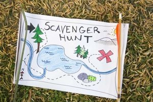 Plan a treasure hunt for your group.