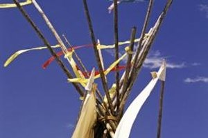 A Cub Scout pack or den meeting can be held inside a teepee.