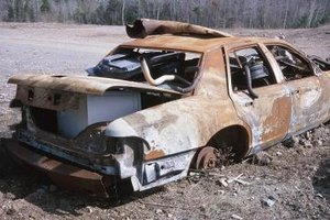Run-down cars may be a sign of danger inside.-