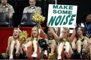 When they get home, these Colorado State cheerleaders better keep it down.