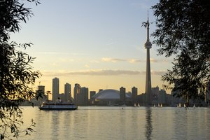 Iconic shot of Toronto, Ontario's capital and Canada's largest city