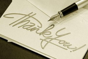 A handwritten note provides the person with a personal touch that helps to convey your appreciation.