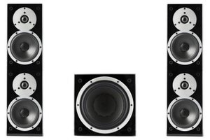 Subwoofers are used to deliver low-frequency music and sound effects content alongside regular speakers.