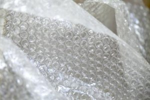Use bubble wrap to prepare sunglasses for shipment.