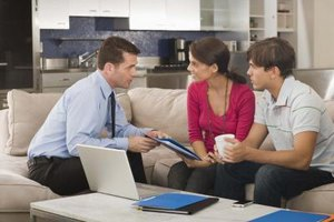Couple meeting with a financial planner.