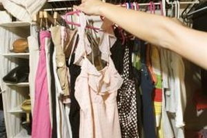 Donating old clothes is a great way to clean out your closet.