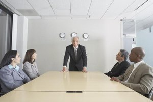 Businesspeople in a conference room.