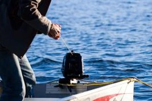 Small outboard engines are popular on small fishing boats.