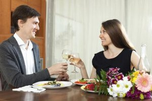 Take time out of your busy day to have a romantic dinner together.