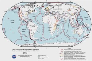 Meteor Strike Effect on Plate Tectonics