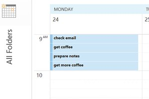 The Work Week, Daily and Schedule views can display 15-minute appointments.