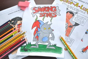 Coloring Sheets to Teach Kids About Smoking
