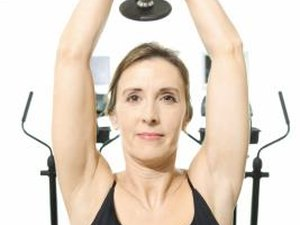 How to Do Tricep Lifts Using Dumbbells