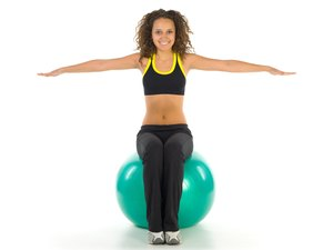 Physio Ball Abdominal Exercise