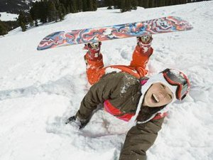 Absorbing a Snowboard Fall