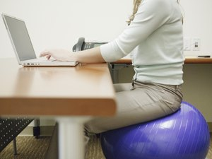 Ball Exercises While Sitting