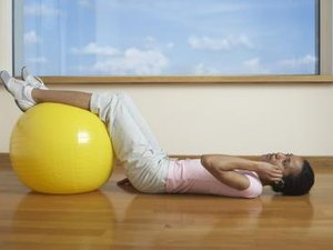 Lying Leg Raise With the Fit Ball