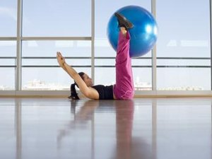The Swiss Ball Bridge and Curl to Target Hamstring Muscles